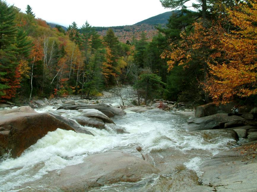 Several trails near and within the Pemigewasset Wilderness, NH, lead to pretty cascades and waterfalls.